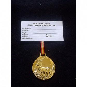 Medalla Oro Ciervo