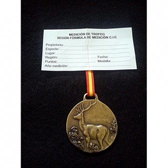 Medalla Bronce Ciervo