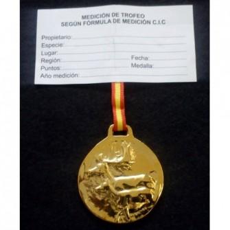Medalla Oro Gamo