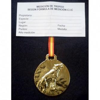 Medalla Oro Lobo