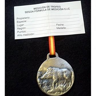 Medalla Plata Jabali