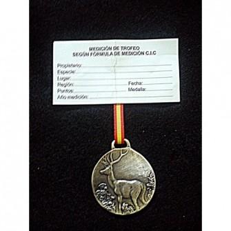 Medalla Plata Ciervo