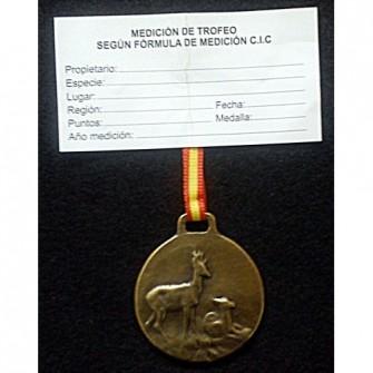 Medalla Bronce Corzo