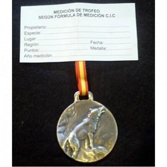 Medalla Plata Lobo