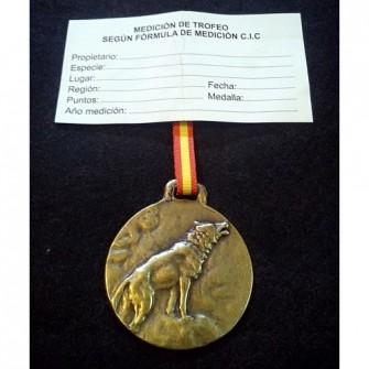 Medalla Bronce Lobo