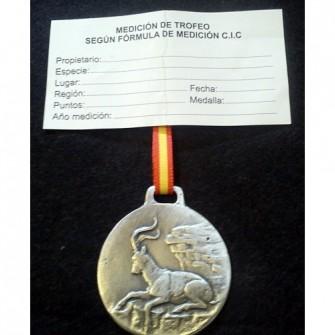 Medalla Plata Macho Montes