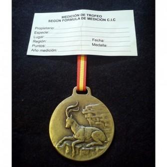 Medalla Bronce Macho Montes
